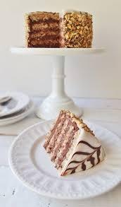 esterhazy torte hazelnut u0026 chocolate layer cake domestic gothess