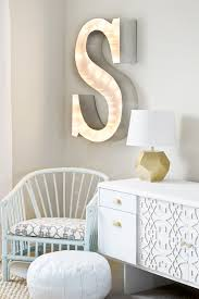 how to decorate with diy marquee letters blissfully domestic