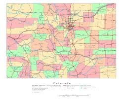 County Map Of Colorado Maps Of Colorado State Collection Of Detailed Maps Of Colorado
