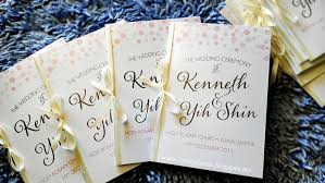 Wedding Booklets Wedding Card Malaysia Crafty Farms Handmade Pink Confetti