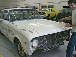 a 1962 ford falcon recieve a budget paint job rod network
