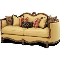 wood trim sofa leather fabric wood trim tufted sofa by aico matlock furniture