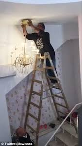 Only Fools And Horses The Chandelier Diyer Drops A Chandelier And Tumbles From His Ladder In Farcical