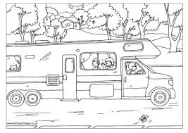 camping colouring pages