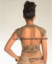 blouse designs circle back neck blouse