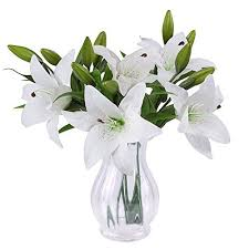 Flowers In Vases Pictures Artificial Flowers With Vase Amazon Co Uk