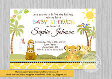 lion king baby shower invitations lion king baby shower greeting cards invitations ebay