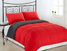 Red King Comforter Sets Amazon Com Cozy Beddings Reversible Down Alternative 3 Piece