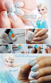 nail art frozen nail art designfrozen design diy acrylic nails