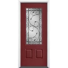 red rustic front doors exterior doors the home depot