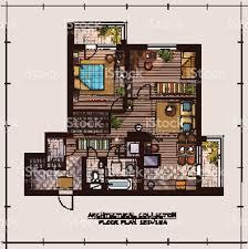 apartment floor planner apartment floor plan stock vector art 511372548 istock