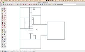 drawing a floor plan in sketchup home decorating interior