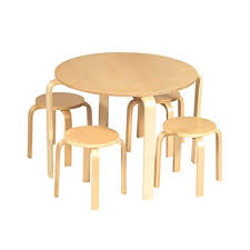 guidecraft childrens table and chairs amazon com guidecraft nordic natural table 4 chairs set kids
