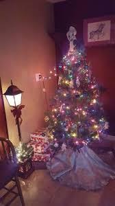 time pre lit 4 l post tree clear lights