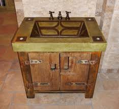 Bathroom Vanities With Vessel Sinks Bathroom Best Rustic Bathroom Vanity With Vintage Sink Design