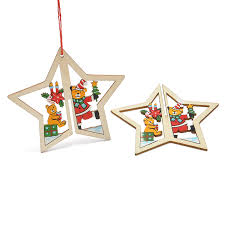 3d wooden pendant bell tree hang ornaments home