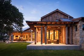Hill Country Floor Plans by Modern Rustic Barn Style Retreat In Texas Hill Country Rustic