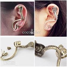 earing studs 2017 king snake cartilage ear cuff earring studs for women fashion