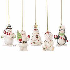 lenox merry porcelain ornaments set of 5 pc ebay