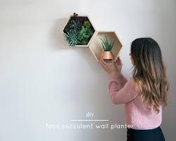 Succulent Planter Diy by Diy Faux Succulent Wall Planter