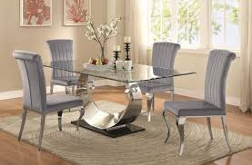 coaster dining room sets manessier dining table 107051 by coaster w glass top u0026 options