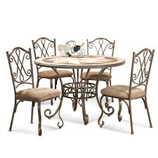 Bassett Dining Room Sets Bassett Mirror Travertino Round Dining Table W Stone Top Flap