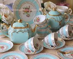 antique tabe crockery vintage china crockery and tea set hire
