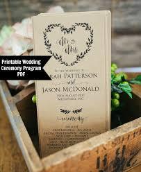 Order Wedding Ceremony Program Wedding Ceremony Program Printable Wedding Template Order Of
