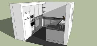 cuisine en 3 d plan 3d cuisine aménagée sur mesure acn à rennes