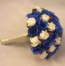 wedding flowers royal blue bridal bouquets royal blue ivory bridal bouquet silk