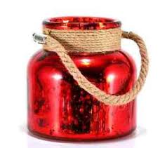 mercury glass string lights red 4 5 mercury glass canisters with led string lights home accents