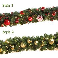 christmas garland with lights aliexpress buy 2 7m christmas garland green with gold