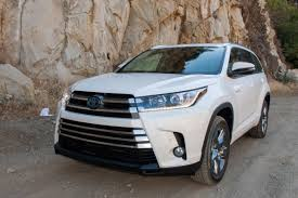 toyota hybrid 2017 toyota highlander and highlander hybrid review first drive