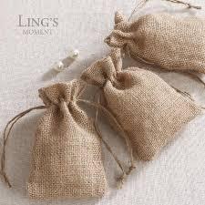 burlap wedding favors small size 40 pcs jute yarn burlap wedding favors bag