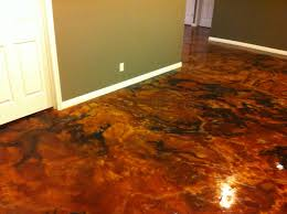 Stain Concrete Patio Yourself Express Yourself With Acid Stain Floors Directcolors Com