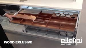 Divisori Cassetti Cucina by Elletipi Wood Exlusive Youtube