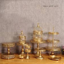 gold wedding cake stand gold wedding cake stand set 12 pieces cupcake stand barware