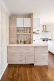 martini kitchen with white birch wallpaper home bar contemporary