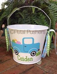 personalized easter buckets personalized easter basket plastic vinyl easter basket