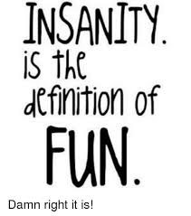 Definition Memes - insanity is the definition of fun damn right it is definitely