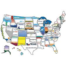 United States License Plate Map by State Sticker Map Brothers 300 Travel Accessories Camping World