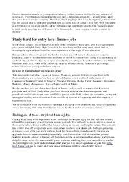 best entry level finance jobs 33 best industry job listings for