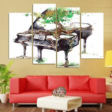 music wall decor 4 piece canvas art abstract piano print music wall pictures for