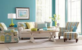 living room furniture blue interior design