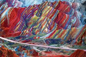 rainbow cake mountains show stunning slices of colour new scientist