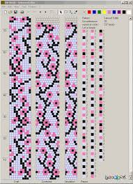 bracelet beads pattern images Cherry blossom bead crochet pattern you can also use the pattern png