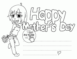 happy mother u0027s day card 2 coloring page for kids coloring pages