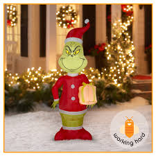 grinch blow up yard decoration 100 images grinch spying over