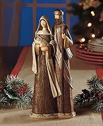 home interiors nativity amazon com holy family nativity sculpture statue display