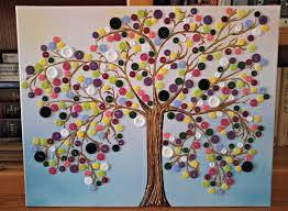 button tree wall craft projects for every fan